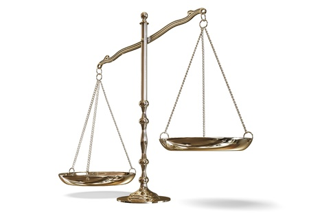 justice scales: scales Stock Photo