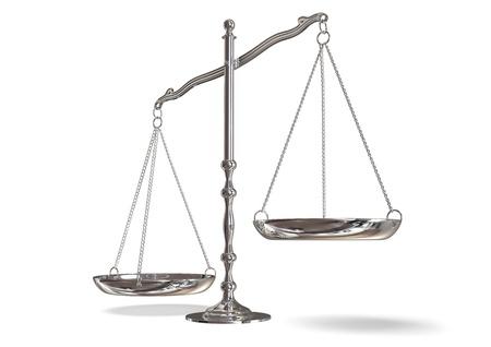 balanza justicia: balanza Foto de archivo