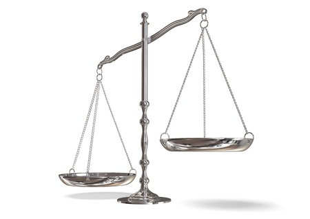 scales of justice: scales Stock Photo