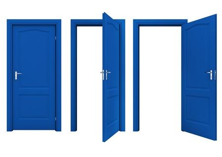 porta aperta: Aprire lo sportello blu