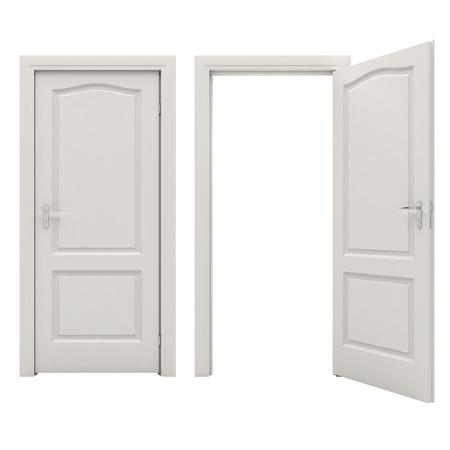Porta bianca aperta Archivio Fotografico - 27362685