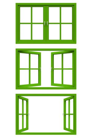 green window frame photo