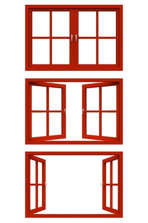 Rode raamkozijn Stockfoto - 30223767