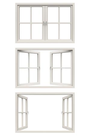 white window frame 스톡 콘텐츠