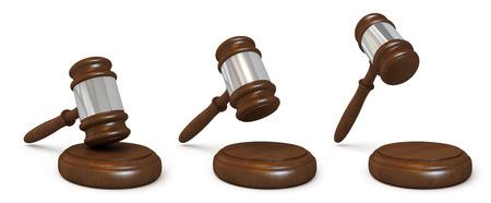 Wooden judges gavel photo