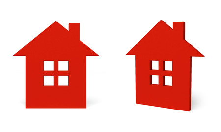 abode: red home icon