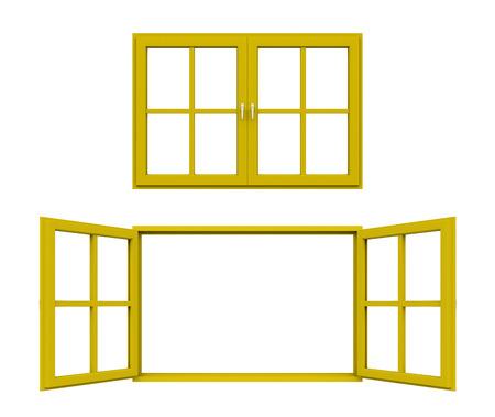 yellow window frame photo