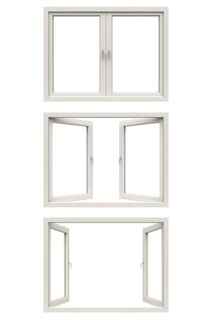windows frame: white window frame Stock Photo