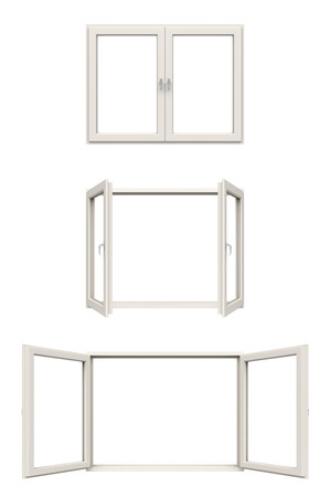 white window frame Banque d'images