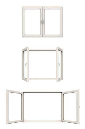 white window frame Stockfoto