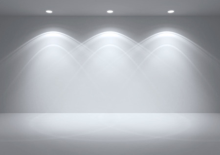 illuminated wall: empty space