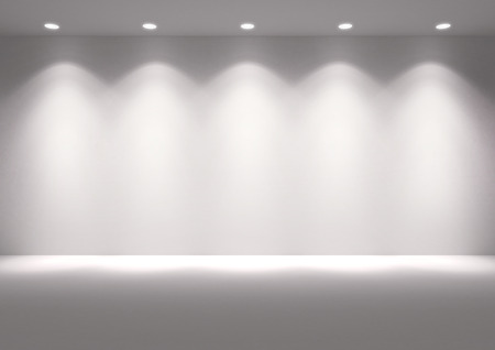 white wall: empty space