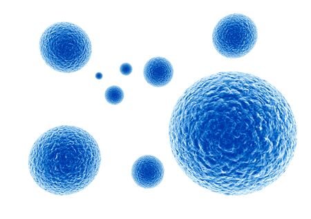 on a white background: 3d rendering of a virus