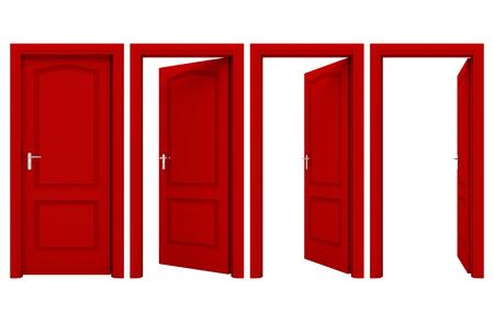 Open red door Archivio Fotografico