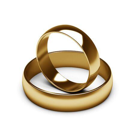 gold rings Imagens - 56441072