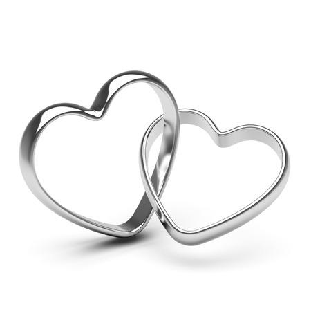 Zilveren hart ringen Stockfoto - 56441078