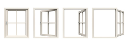 close: white window frame.