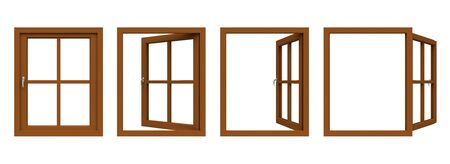 Brown window frame.