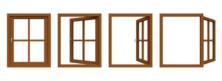 ventanas abiertas: marco de la ventana de Brown.