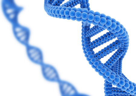 Blue DNA. Stock Photo