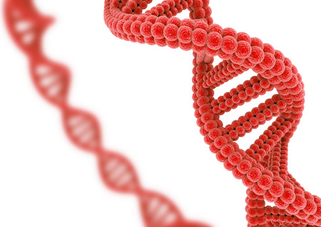 Red DNA. Stock Photo - 82238180