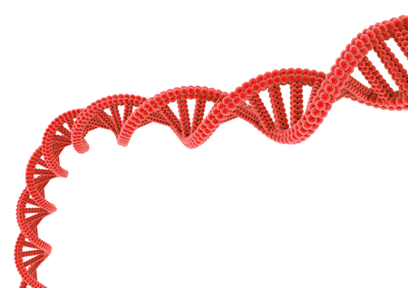 Red DNA. Stock Photo - 82238183