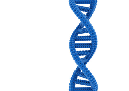 Blue DNA. Stock Photo