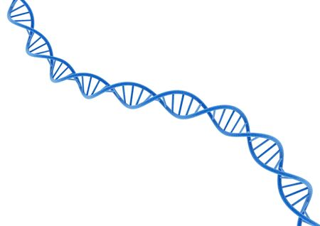 rna: Blue DNA. Stock Photo