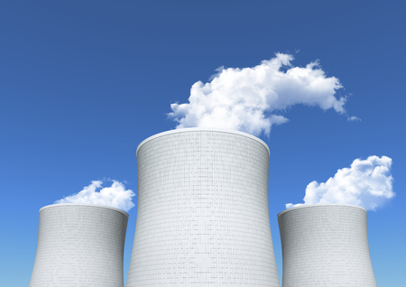 cooling towers: Cooling tower of nuclear power plant.