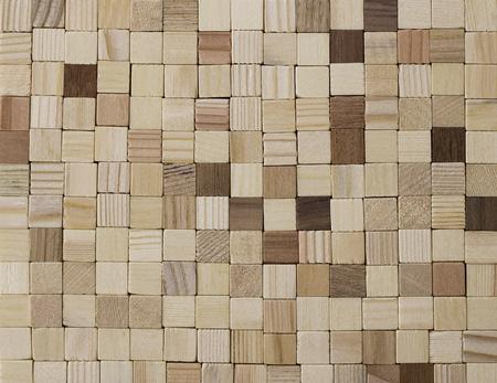 wood square texture background. Standard-Bild