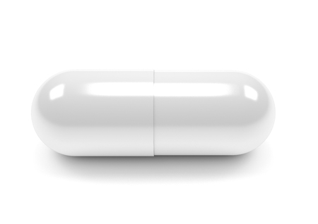 Pillen capsules geïsoleerd op een witte achtergrond Stockfoto - 63645637