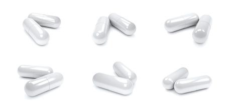 drug capsule isolated on white background.