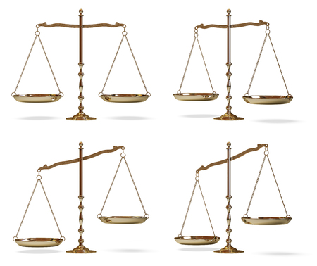 scale of justice: gold scales