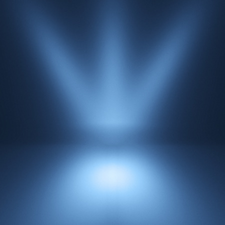Blue spotlight background. Empty blue studio. Stock Photo