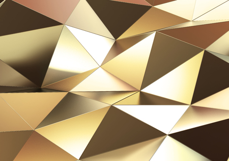 abstract 3D rendering of gold surface.