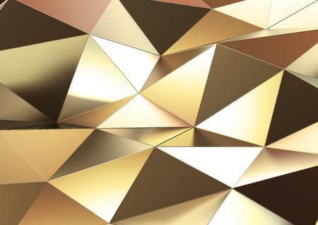 Abstrakte 3D-Rendering von Gold Oberfläche. Standard-Bild - 83651723
