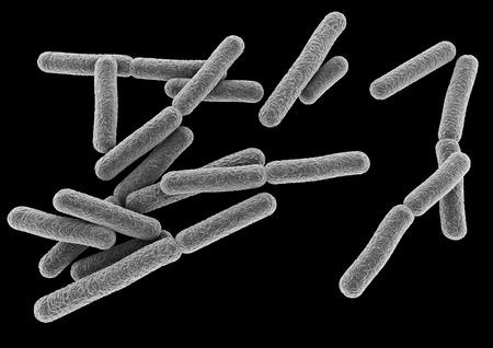 3D-weergave van een bacterie. Stockfoto