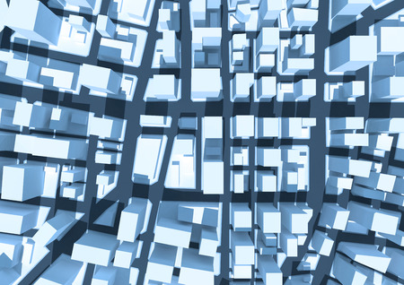Abstract 3d cityscape. Abstract urban 3d background. 写真素材
