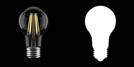 Light bulb isolated on black.