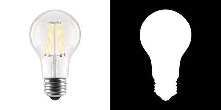 Light bulb isolated on white. 版權商用圖片