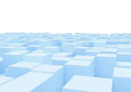 Abstract box background.