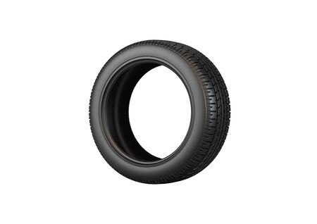 Car tire isolated on white background. Фото со стока