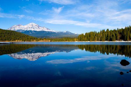 Mountain Shasta in Northern California Stock Photo