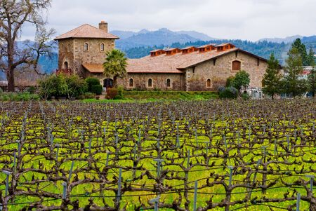 Winery in Napa Valley 写真素材