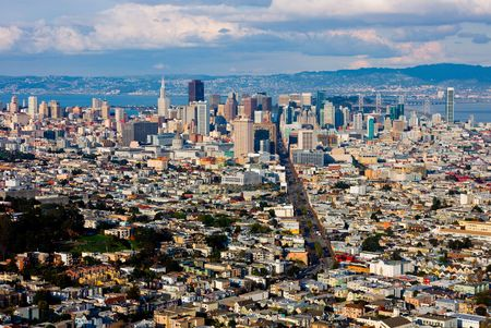 twin house:   San Francisco from above