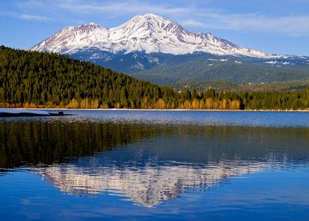 snowy mountain: Snowy mountain in Northern California Stock Photo