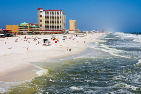 pensacola: Pensacola Beach in Florida Stock Photo