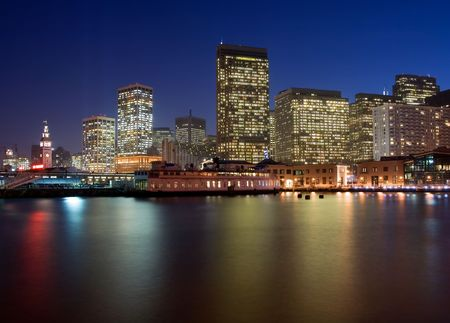 San Francisco Waterfront at night photo