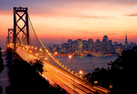 bay: San Francisco Sunset Stock Photo