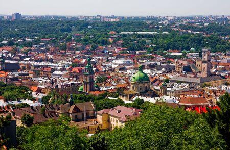 Lviv from above, Ukraine Stock Photo - 6098924